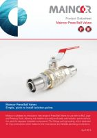 thumbnail of Maincor-Ball-Valves-Datasheet-March-2016