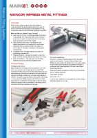 thumbnail of Maincor Impress Metal Fittings